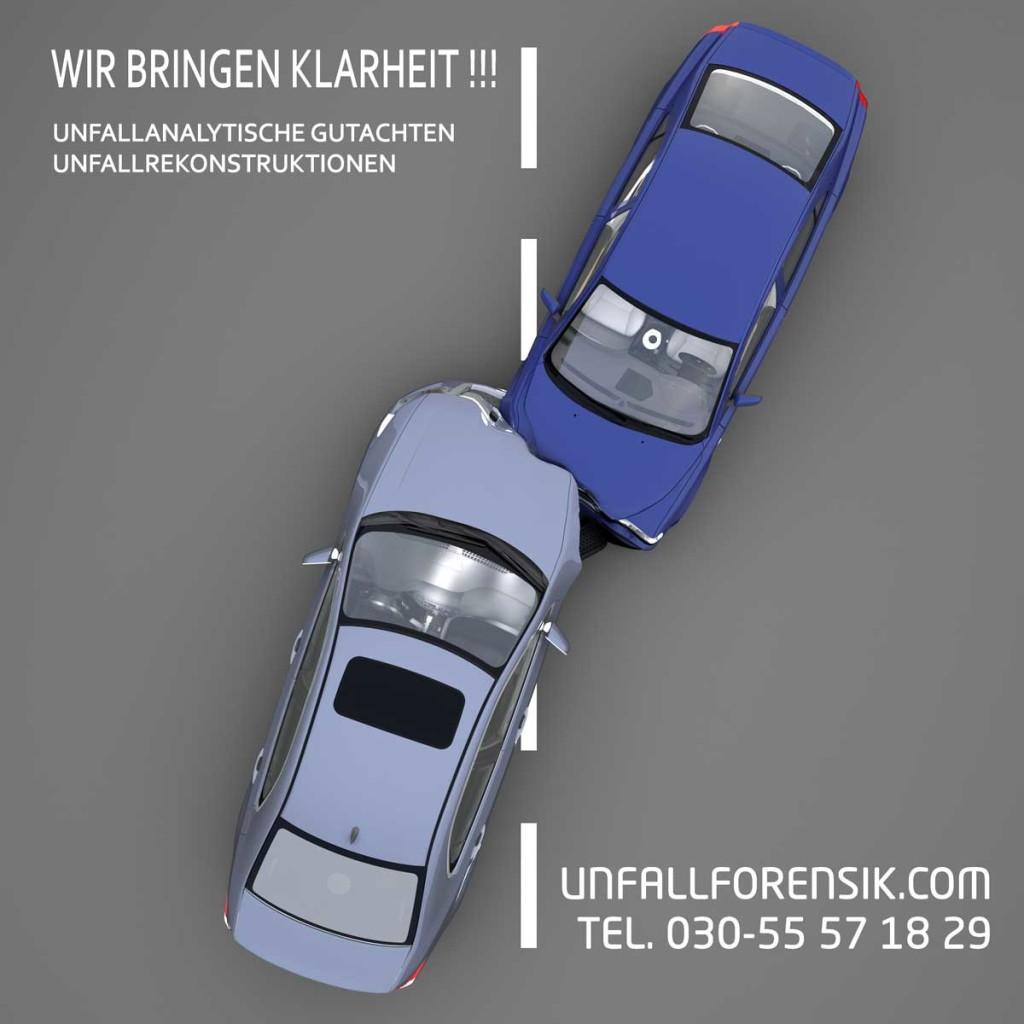 Unfall strittig - Unfallrekonstruktion Berlin Unfallanalyse nach einen Verkehrsunfall