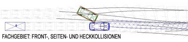 Unfallanalyse Kollisionsanalyse nach Verkehrsunfall