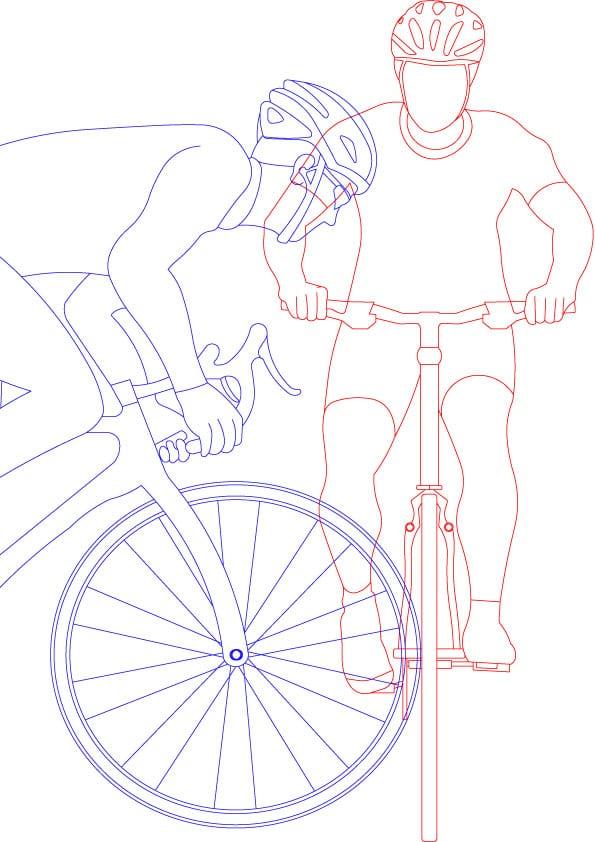 Fahrrad gegen Fahrrad Unfall