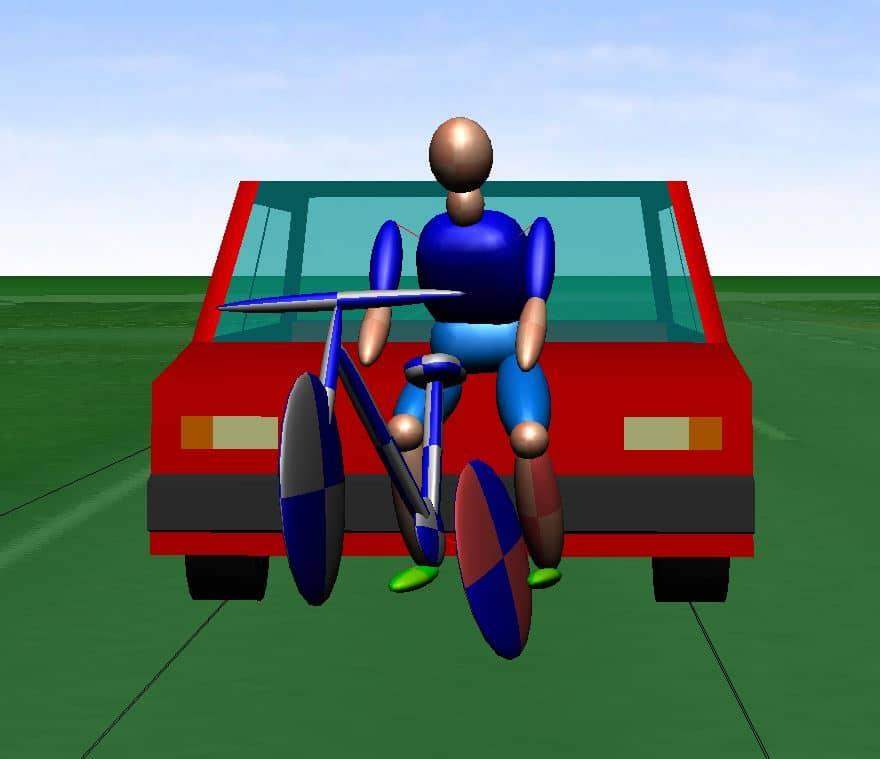 Fahrradfahrerunfall Unfall mit Fahrradfahrer