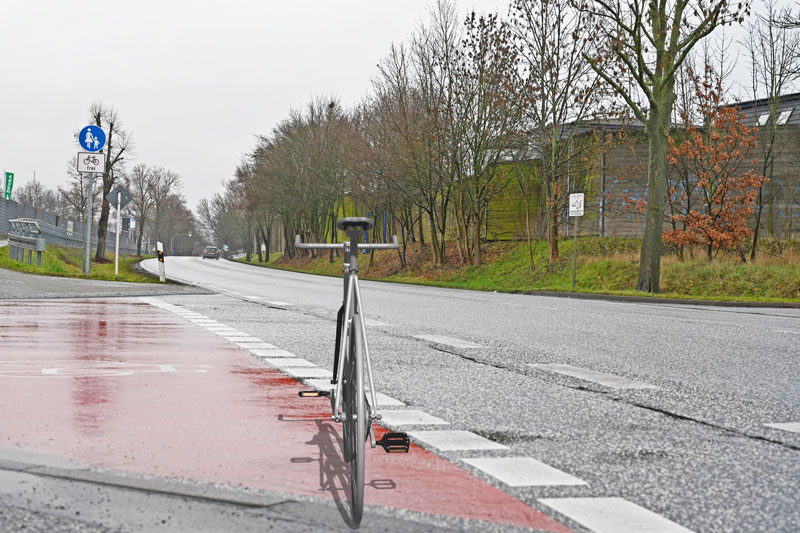 Unfall Fahrradfahrer B158 Ahrensfelde Blumberg
