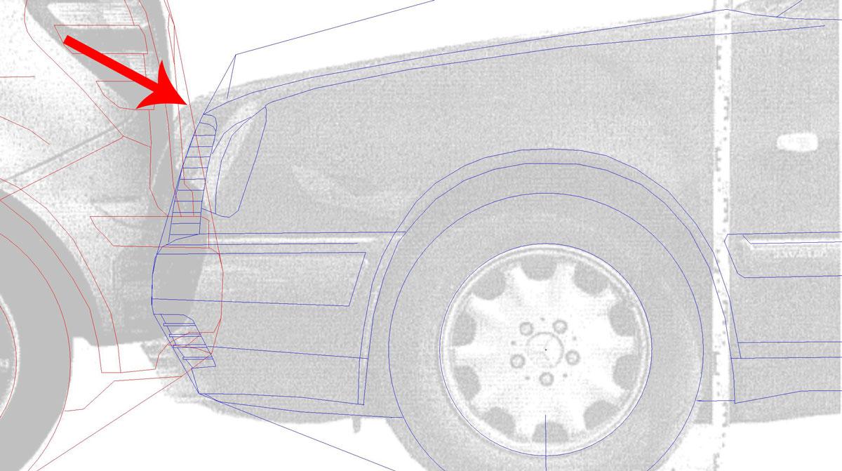 Fahrzeuggegenüberstellung